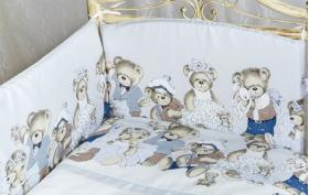 """Комплект белья для новорожденных в кроватку """"Мишкины игрушки"""", Серый"""