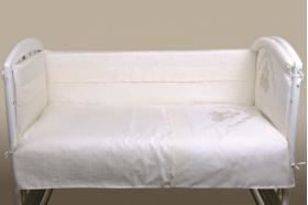 """Комплект белья для новорожденных в кроватку """"Инфанты-Карета"""", Бежевый"""