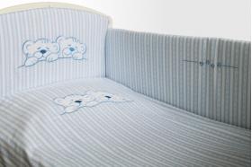"""Комплект белья для новорожденных в кроватку """"Тигрята"""", Голубой"""
