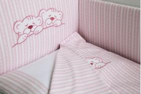 """Комплект белья для новорожденных в кроватку """"Тигрята"""", Розовый"""