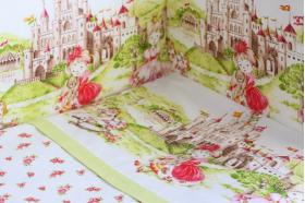 """Комплект белья для новорожденных в кроватку """"Там снятся сказки"""", Розовый"""