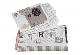 Комплект постельного белья с одеялом детское поплин ''SWEET HOME'', розовый