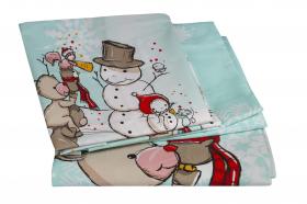 Комплект постельного белья с одеялом детское поплин ''SNOWBALL'', минт