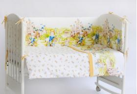 """Комплект белья для новорожденных в кроватку """"Там снятся сказки"""", Голубой"""