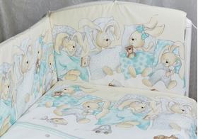 """Комплект белья для новорожденных в кроватку """"Сони"""" 3 предмета"""