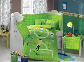 """Комплект постельного белья детское поплин """"SOCCER"""", зелёный"""
