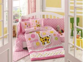 """Комплект постельного белья с одеялом детское поплин """"PUFFY"""", розовый"""