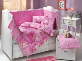 """Комплект постельного белья детское поплин """"LITTLE SHEEP"""", розовый"""