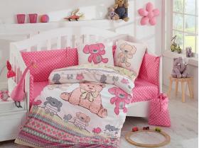 Комплект постельного белья с одеялом детское поплин ''TOMBIK'', розовый