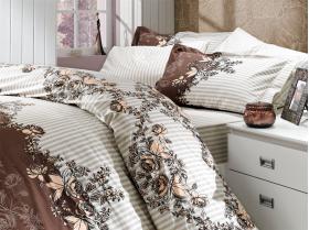 """Комплект постельного белья  """"DELFINA"""", коричневый"""