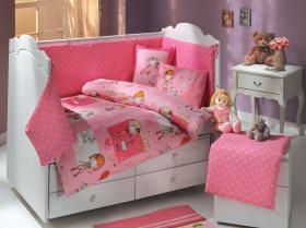 """Комплект постельного белья детское поплин """"CITY GIRL"""", розовый, 100% Хлопок"""