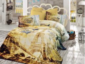 """Набор комплект постельного белья и покрывало """"VIVALDI"""", золотой"""