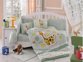 """Комплект постельного белья с одеялом детское поплин """"PUFFY"""", минт"""