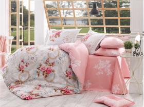 """Комплект постельного белья """"CLEMENTINA"""", розовый"""