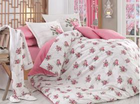 """Набор комплект постельного белья с халатом и тапочками """"PARIS SPRING"""", розовый"""