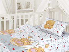 """Комплект постельного белья на резинке Облачко """"Влюбленный медвежонок"""""""