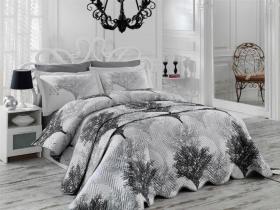 """Набор комплект постельного белья и стеганное покрывало """"JUILLET"""", серый"""