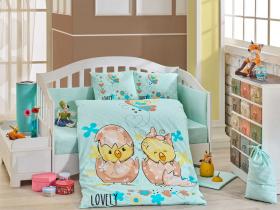 Комплект постельного белья с одеялом детское поплин ''LOVELY'', минт