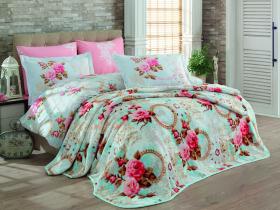"""Набор комплект постельного белья и покрывало """"CLEMENTINA"""", розовый"""