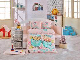 Комплект постельного белья с одеялом детское поплин ''LOVELY'', персиковый