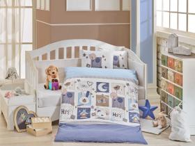 """Комплект постельного белья детское поплин """"SWEET HOME"""", синий"""