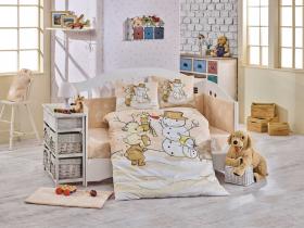 Комплект постельного белья с одеялом детское поплин ''SNOWBALL'', бежевый