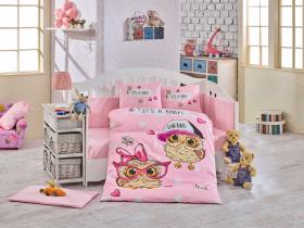 """Комплект постельного белья с одеялом детское поплин ''COOL BABY"""", розовый"""