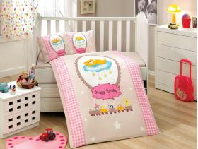 """Комплект постельного белья с одеялом детское поплин  """"BAMBAM"""", розовый"""