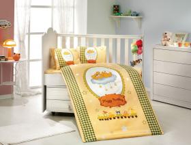 """Комплект постельного белья с одеялом детское поплин """"BAMBAM"""", жёлтый"""