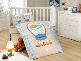 """Комплект постельного белья детское поплин """"BAMBAM"""", голубое"""