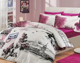 """Комплект постельного белья  """"ISTANBUL PANAROMA"""", розовый"""