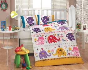 """Комплект постельного белья с одеялом детское поплин """"OSCAR"""", белый"""