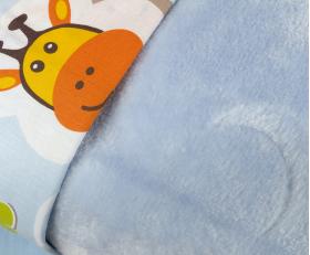 """Комплект постельного белья детское поплин с покрывалом """"PUFFY"""", голубое"""