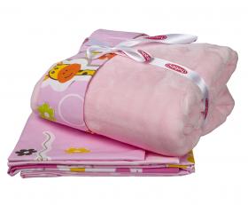 """КПБ детское поплин с покрывалом """"PUFFY"""", розовый"""