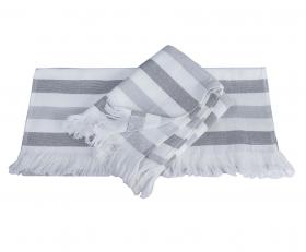 """Махровое полотенце  """"STRIPE"""", серый"""
