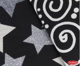 """Комплект постельного белья  """"STAR'S"""", чёрный"""