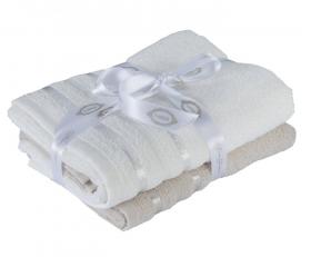 "Набор махровых полотенец  ""NISA"", бежевый/молочный"