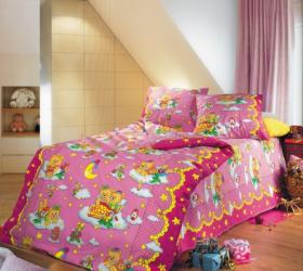 """Комплект детского постельного белья """"Сладкий сон"""" розовый"""