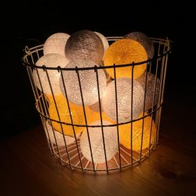 Тайская гирлянда желто-серая