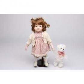 """Кукла с мишкой """"Алёнка"""""""