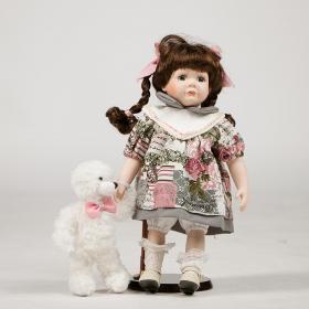 """Кукла с мишкой """"Люся"""""""