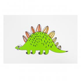 Открытка Стегозавр