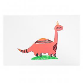 Открытка Бронтозавр Маша