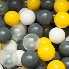 Сет из 200 шаров для сухого бассейна серо-желтый