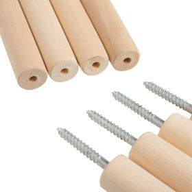 Палки для вигвама разборные двусоставные (комплект из 4-х штук)