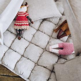 Игровой коврик Бомбон из льна