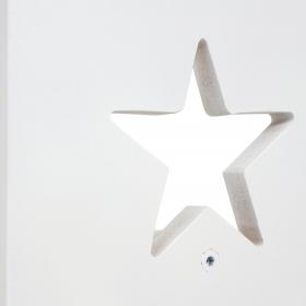 Детский табурет белый со звездочкой