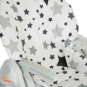 """Съемный чехол """"Black Stars"""" для стульчика для кормления"""