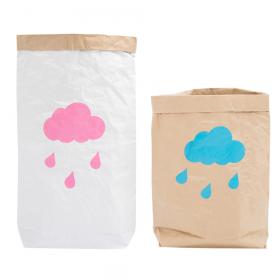 """Эко-мешок для игрушек из крафт бумаги """"Rain"""""""