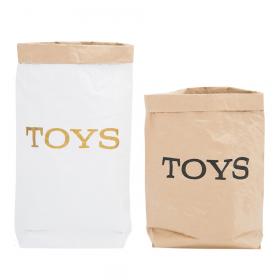 """Эко-мешок для игрушек из крафт бумаги """"Toys"""""""